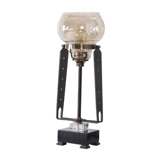 Uttermost Curie Black Industrial Accent Lamp