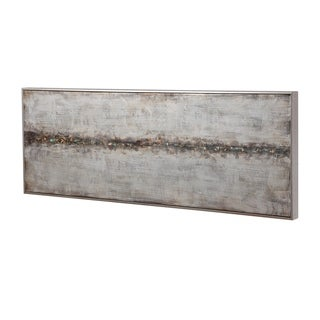 Uttermost Cracked Sidewalk Antiqued Silver Abstract Art - Grey/Multi-color
