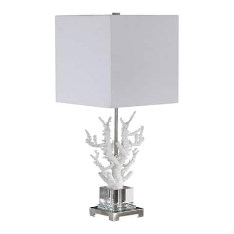 Uttermost Corallo White Coral Table Lamp