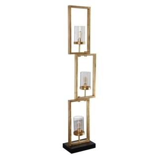 Uttermost Cielo Lightly Antiqued Gold Staggered Rectangular Floor Lamp