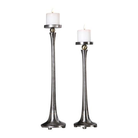 Uttermost Aliso Cast Iron Candleholders (Set of 2)