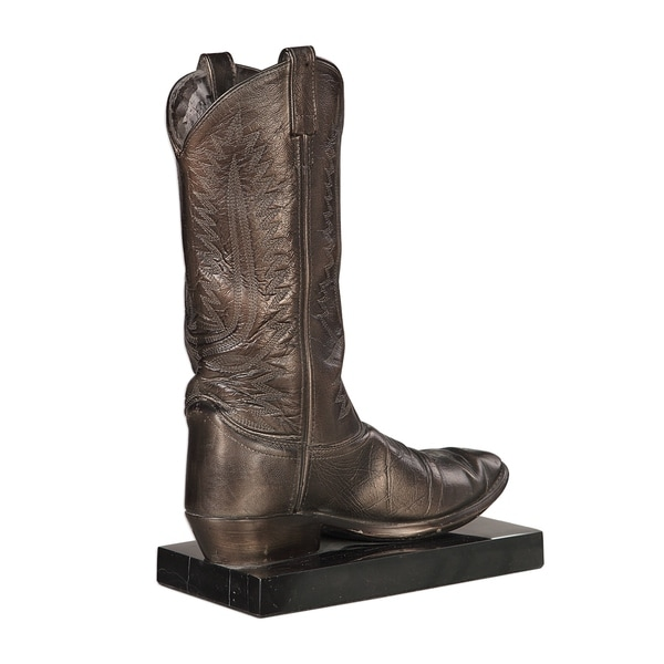 Uttermost Boot Antique Bronze Sculpture