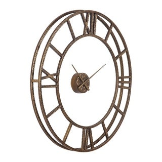 Uttermost Mylah Heavily Antiqued Gold Wall Clock