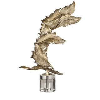 Uttermost Fall Leaves Antiqued Silver Champagne Sculpture