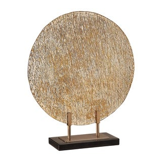 Uttermost Layan Black Art Glass Charger