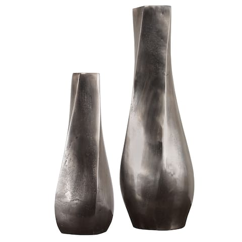 Uttermost Noa Antiqued Nickel Vases (Set of 2)