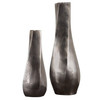 Uttermost Noa Antiqued Nickel Vases (Set of 2)