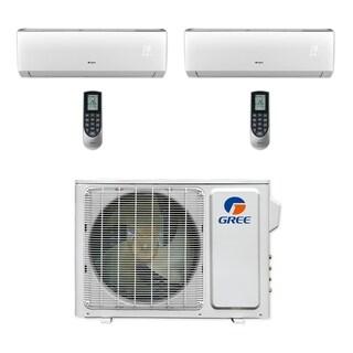 Gree MULTI18CVIR200 - 18,000 BTU Multi21+ Dual-Zone Wall Mount Mini Split A/C Heat Pump 208-230V (9-9) (A/C & Heater)
