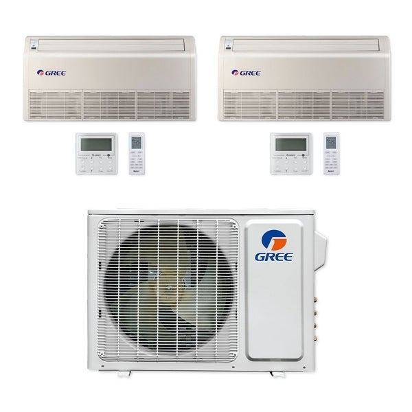 Gree MULTI18CFLR201 - 18,000 BTU Multi21+ Dual-Zone Floor/Ceiling Mini Split A/C Heat Pump 208-230V (9-12) - A/C & Heater