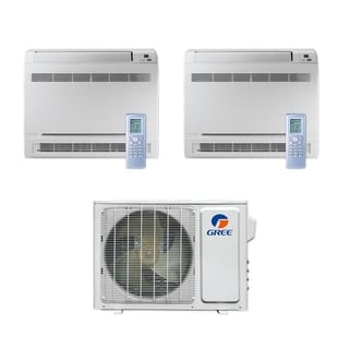 Gree MULTI18CCONS201 - 18,000 BTU Multi21+ Dual-Zone Floor Console Mini Split A/C Heat Pump 208-230V (9-12) - A/C & Heater