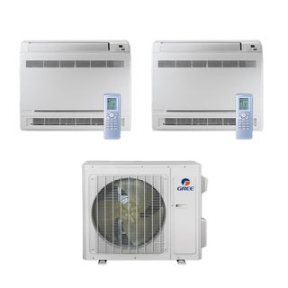 Gree MULTI24CCONS202 - 24,000 BTU Multi21+ Dual-Zone Floor Console Mini Split A/C Heat Pump 208-230V (9-18) - A/C & Heater