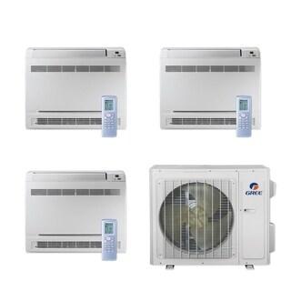 Gree MULTI24CCONS300 - 24,000 BTU Multi21+ Tri-Zone Floor Console Mini Split A/C Heat Pump 208-230V (9-9-9) - A/C & Heater