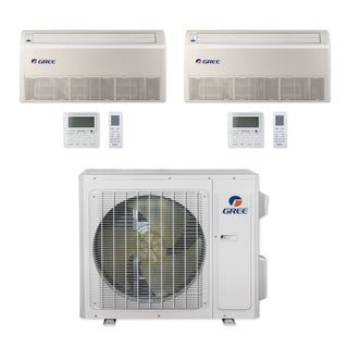 Gree MULTI24CFLR205 - 24,000 BTU Multi21+ Dual-Zone Floor/Ceiling Mini Split A/C Heat Pump 208-230V (18-18) - A/C & Heater