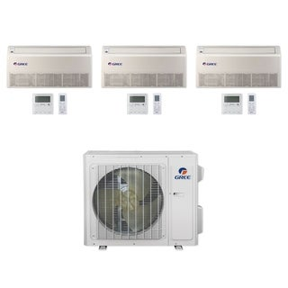 Gree MULTI24CFLR300 - 24,000 BTU Multi21+ Tri-Zone Floor/Ceiling Mini Split A/C Heat Pump 208-230V (9-9-9) - A/C & Heater