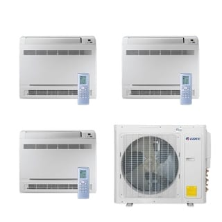 Gree MULTI30CCONS301 - 30,000 BTU Multi21+ Tri-Zone Floor Console Mini Split A/C Heat Pump 208-230V (9-9-12) - A/C & Heater