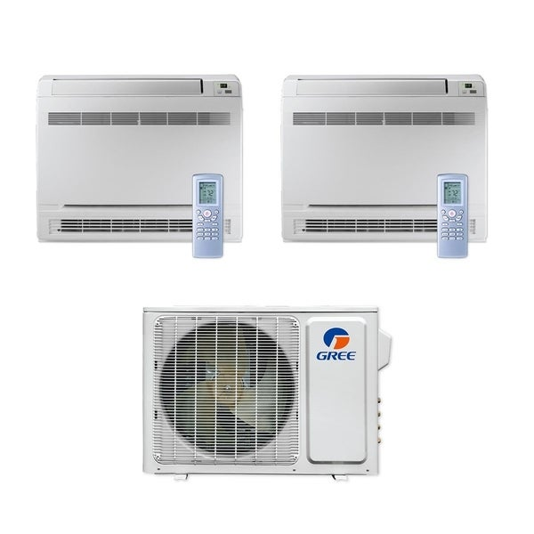 Gree MULTI18CCONS200 - 18,000 BTU Multi21+ Dual-Zone Floor Console Mini Split A/C Heat Pump 208-230V (9-9) - A/C & Heater