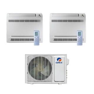 Gree MULTI18CCONS200 - 18,000 BTU Multi21+ Dual-Zone Floor Console Mini Split A/C Heat Pump 208-230V (9-9) - A/C & Heater