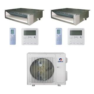 Gree MULTI24CDUCT200 - 24,000 BTU Multi21+ Dual-Zone Concealed Duct Mini Split A/C Heat Pump 208-230V (9-9) - A/C & Heater