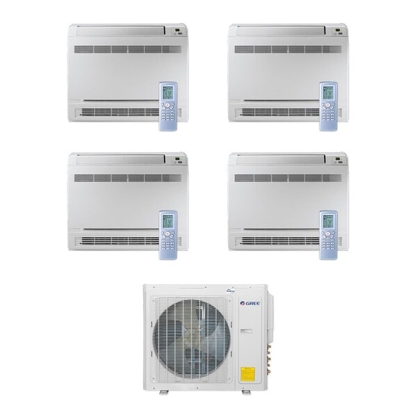 Gree MULTI30CCONS400 - 30,000 BTU Multi21+ Quad-Zone Floor Console Mini Split A/C Heat Pump 208-230V (9-9-9-9) - A/C & Heater