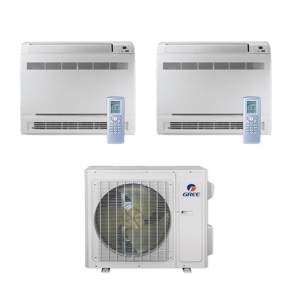 Gree MULTI24CCONS201 - 24,000 BTU Multi21+ Dual-Zone Floor Console Mini Split A/C Heat Pump 208-230V (9-12) - A/C & Heater