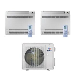Gree MULTI24CCONS201 - 24,000 BTU Multi21+ Dual-Zone Floor Console Mini Split A/C Heat Pump 208-230V (9-12) - A/C & Heater