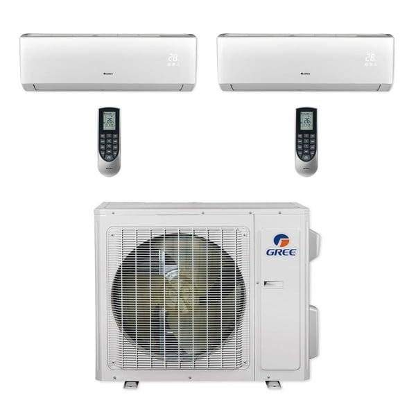 Gree MULTI24CVIR203 - 24,000 BTU Multi21+ Dual-Zone Wall Mount Mini Split A/C Heat Pump 208-230V (12-12) (A/C & Heater)