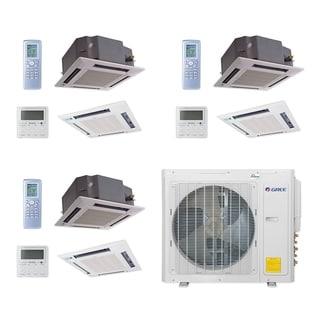 Gree MULTI30CCAS307 - 30,000 BTU Multi21+ Tri-Zone Ceiling Cassette Mini Split A/C Heat Pump 208-230V (12-12-18) - A/C & Heater