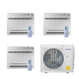 Gree MULTI30CCONS306 - 30,000 BTU Multi21+ Tri-Zone Floor Console Mini Split A/C Heat Pump 208-230V (12-12-12) - A/C & Heater