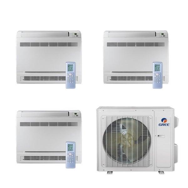 Gree MULTI24CCONS304 - 24,000 BTU Multi21+ Tri-Zone Floor Console Mini Split A/C Heat Pump 208-230V (12-12-12) - A/C & Heater