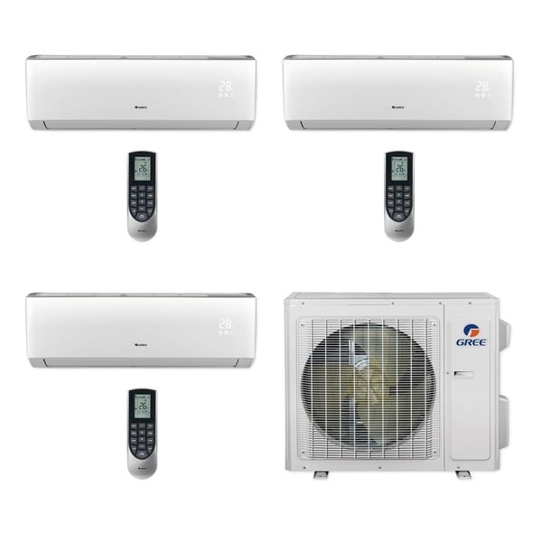 Gree MULTI24CVIR304 - 24,000 BTU Multi21+ Tri-Zone Wall Mount Mini Split A/C Heat Pump 208-230V (12-12-12) - A/C & Heater
