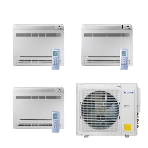 Gree MULTI30CCONS300 - 30,000 BTU Multi21+ Tri-Zone Floor Console Mini Split A/C Heat Pump 208-230V (9-9-9) - A/C & Heater