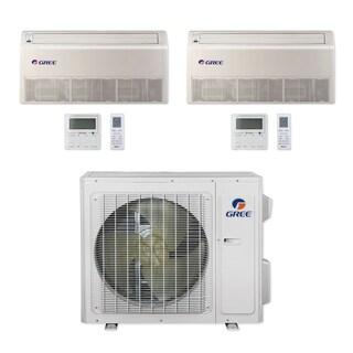 Gree MULTI24CFLR203 - 24,000 BTU Multi21+ Dual-Zone Floor/Ceiling Mini Split A/C Heat Pump 208-230V (12-12) - A/C & Heater