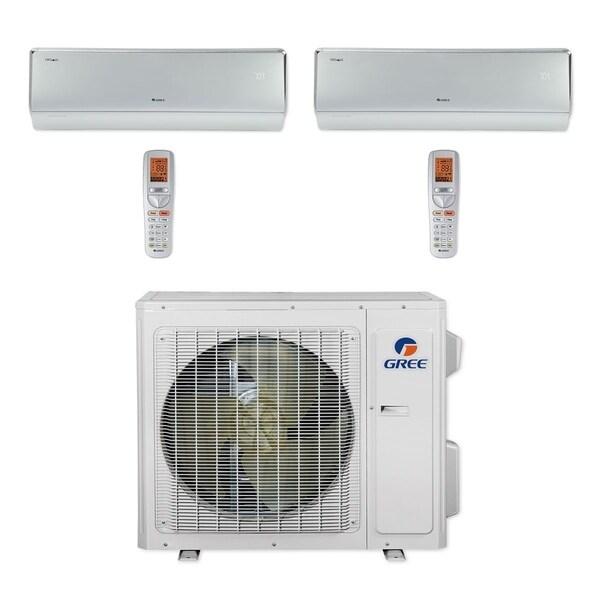 Gree MULTI24CCROWN205 - 24,000 BTU Multi21+ Dual-Zone Wall Mount Mini Split A/C Heat Pump 208-230V (18-18) - A/C & Heater