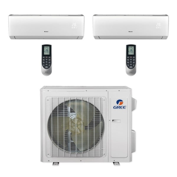 Gree MULTI24CLIV200 - 24,000 BTU Multi21+ Dual-Zone Wall Mount Mini Split A/C Heat Pump 208-230V (9-9) (A/C & Heater)
