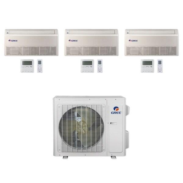 Gree MULTI24CFLR303 - 24,000 BTU Multi21+ Tri-Zone Floor/Ceiling Mini Split A/C Heat Pump 208-230V (9-12-12) - A/C & Heater