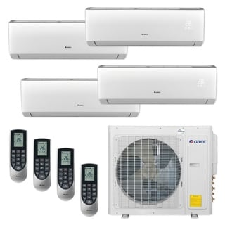 Gree MULTI30CVIR400 - 30,000 BTU Multi21+ Quad-Zone Wall Mount Mini Split A/C Heat Pump 208-230V (9-9-9-9) - A/C & Heater