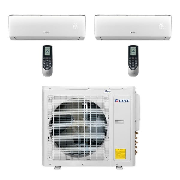 Gree MULTI30CLIV205 - 30,000 BTU Multi21+ Dual-Zone Wall Mount Mini Split  A/C Heat Pump 208-230V (12-18) (A/C & Heater)