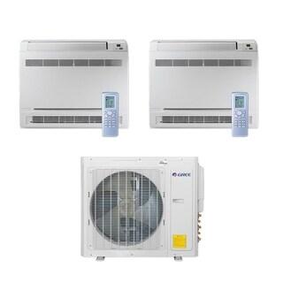 Gree MULTI30CCONS207 - 30,000 BTU Multi21+ Dual-Zone Floor Console Mini Split A/C Heat Pump 208-230V (18-18) - A/C & Heater