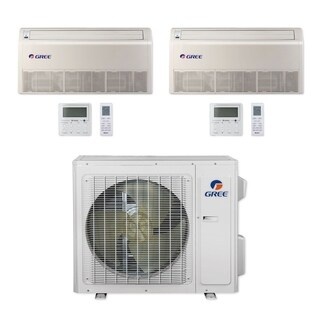 Gree MULTI24CFLR202 - 24,000 BTU Multi21+ Dual-Zone Floor/Ceiling Mini Split A/C Heat Pump 208-230V (9-18) - A/C & Heater