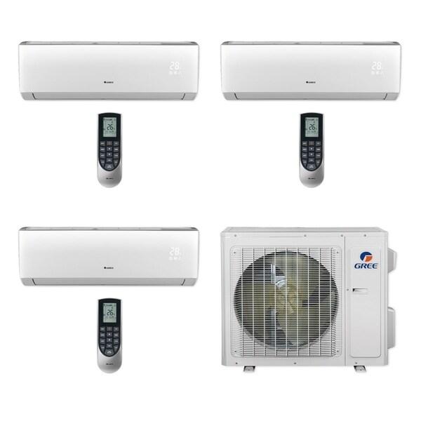 Gree MULTI24CLIV304 - 24,000 BTU Multi21+ Tri-Zone Wall Mount Mini Split A/C Heat Pump 208-230V (12-12-12) - A/C & Heater