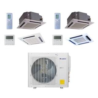 Gree MULTI30CCAS206 - 30,000 BTU Multi21+ Dual-Zone Ceiling Cassette Mini Split A/C Heat Pump 208-230V (12-24) - A/C & Heater