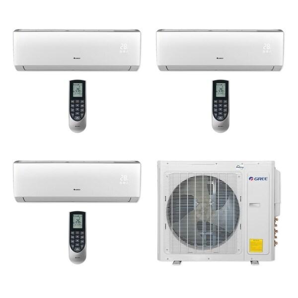 Gree MULTI30CLIV301 - 30,000 BTU Multi21+ Tri-Zone Wall Mount Mini Split A/C Heat Pump 208-230V (9-9-12) (A/C & Heater)