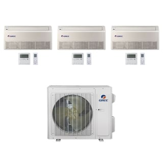 Gree MULTI24CFLR304 - 24,000 BTU Multi21+ Tri-Zone Floor/Ceiling Mini Split A/C Heat Pump 208-230V (12-12-12 - A/C & Heater