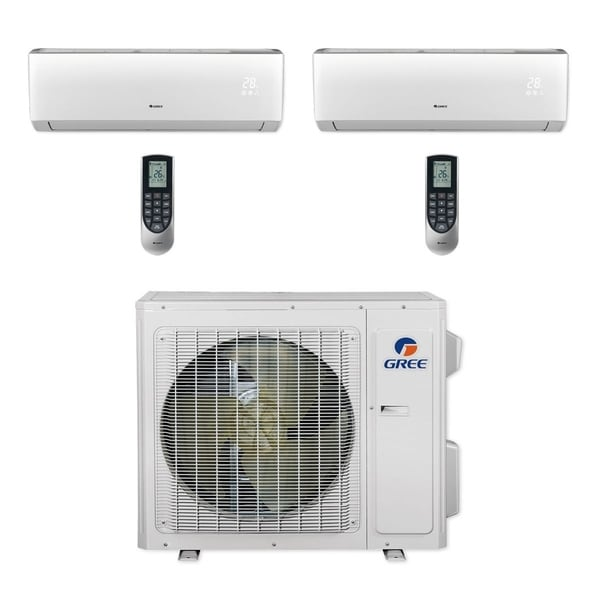 Gree MULTI24CVIR200 - 24,000 BTU Multi21+ Dual-Zone Wall Mount Mini Split A/C Heat Pump 208-230V (9-9) (A/C & Heater)