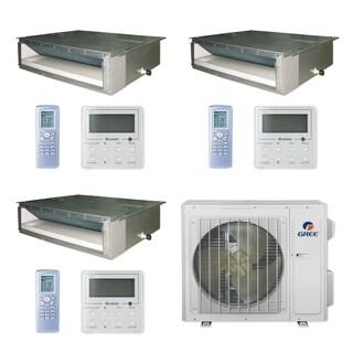 Gree MULTI24CDUCT300 - 24,000 BTU Multi21+ Tri-Zone Concealed Duct Mini Split A/C Heat Pump 208-230V (9-9-9) - A/C & Heater
