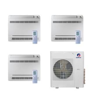 Gree MULTI36CCONS300 - 36,000 BTU Multi21+ Tri-Zone Floor Console Mini Split A/C Heat Pump 208-230V (9-9-9) - A/C & Heater