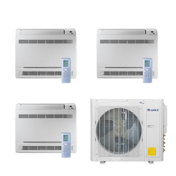 Gree MULTI30CCONS305 - 30,000 BTU Multi21+ Tri-Zone Floor Console Mini Split A/C Heat Pump 208-230V (9-12-18) - A/C & Heater