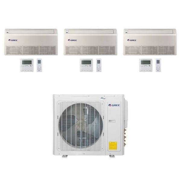 Gree MULTI30CFLR301 - 30,000 BTU Multi21+ Tri-Zone Floor/Ceiling Mini Split A/C Heat Pump 208-230V (9-9-12) - A/C & Heater