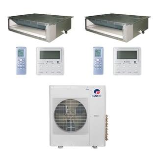 Gree MULTI36CDUCT209 - 36,000 BTU Multi21+ Dual-Zone Concealed Duct Mini Split A/C Heat Pump 208-230V (24-24) - A/C & Heater