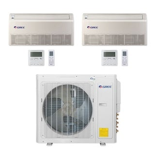 Gree MULTI30CFLR204 - 30,000 BTU Multi21+ Dual-Zone Floor/Ceiling Mini Split A/C Heat Pump 208-230V (12-12) - A/C & Heater